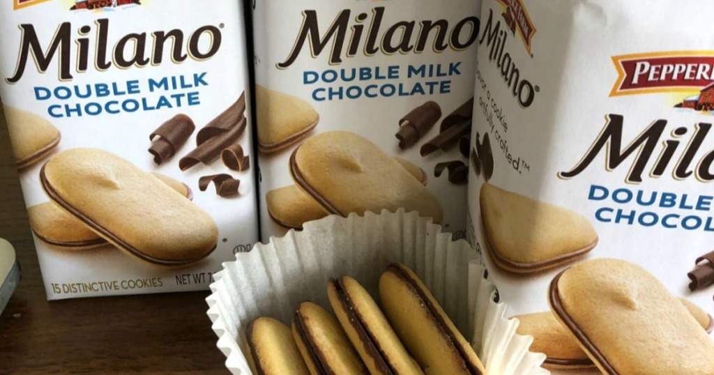 Milano cookies in the package and out