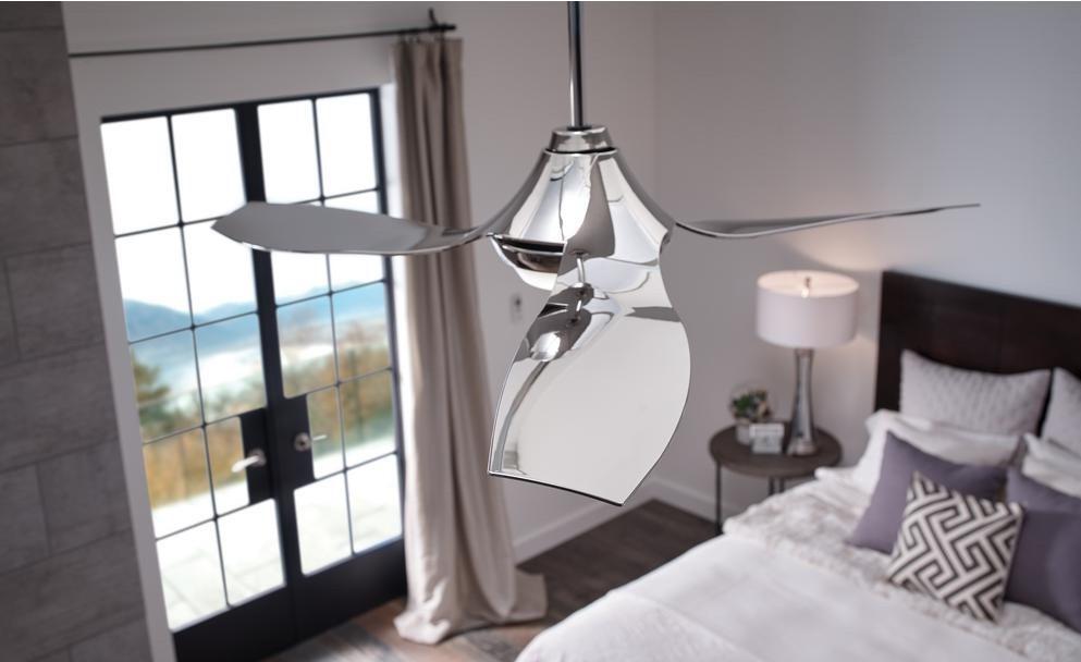 ceiling fan in a bedroom