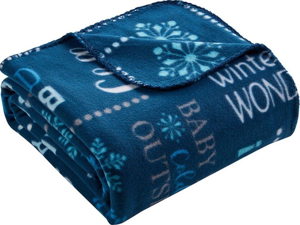 Morgan home fleece throw blanket