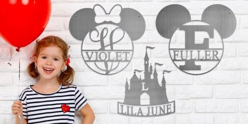 Personalized Disney-Themed Monogram Signs Just $24.99 Shipped