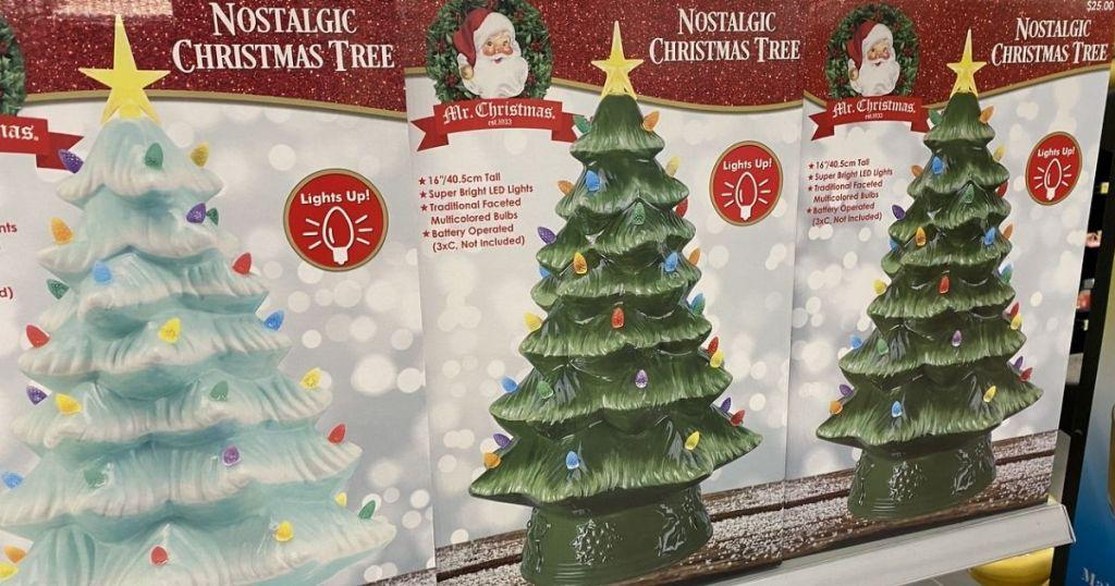 Mr Christmas Ceramic Trees