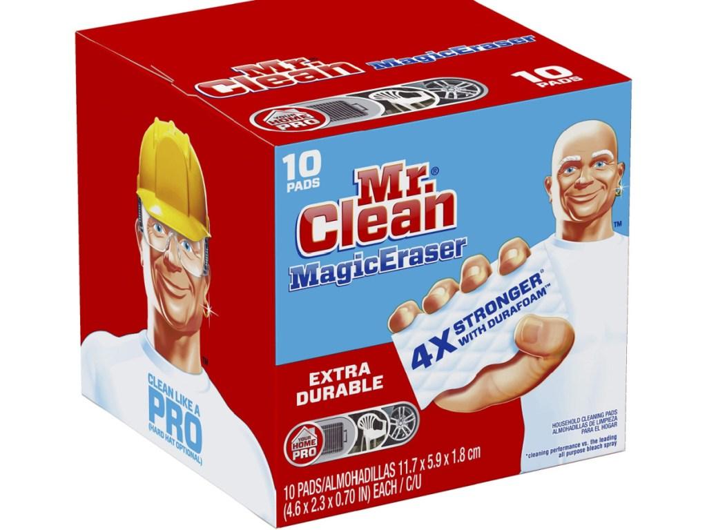 Box of Mr. Clean Magic Erasers with Durafoam 10-Count Box