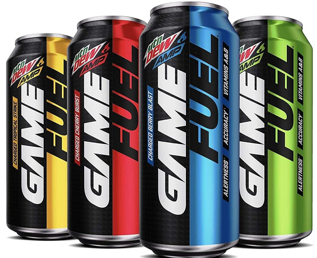 Mtn Dew Game Fuel Variety Pack cans