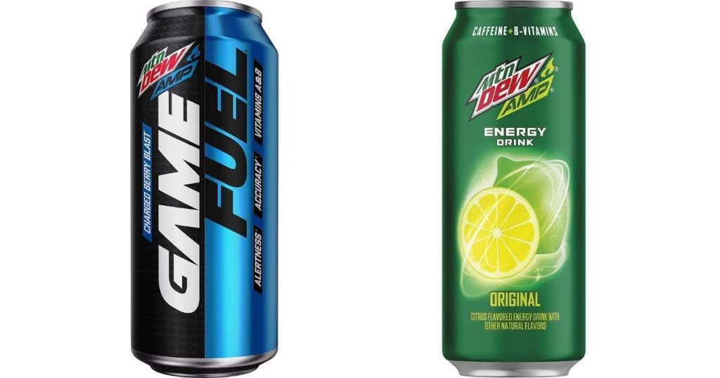 Mtn Dew Game Fuel and Amp cans