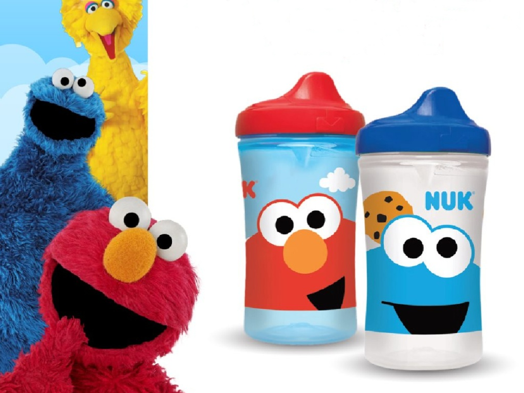 NUK Elmo and Cookie Monster Sesame Street Cups