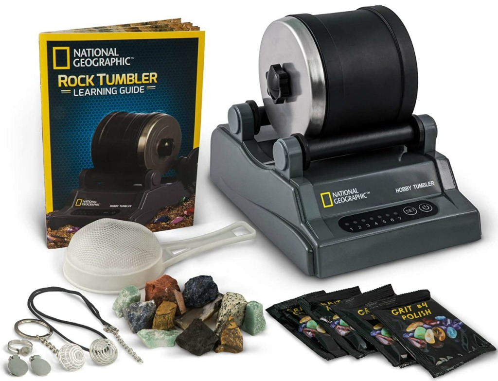 Rock tumbler set with accessories