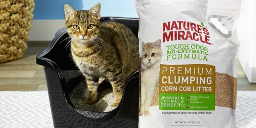 Nature's Miracle Clumping Corn Cat Litter 10lb Bag Just $8.50 Shipped on Amazon