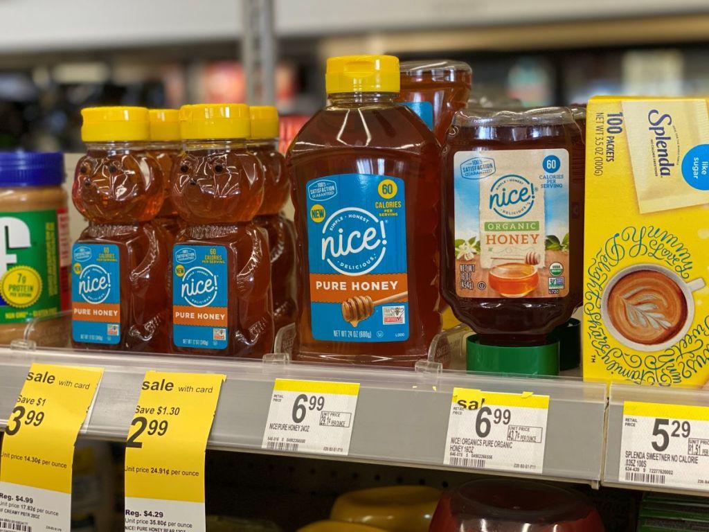 honey on a shelf at Walgreens