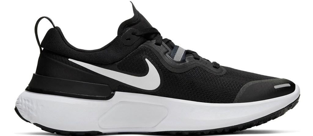 black and white Nike running shoe