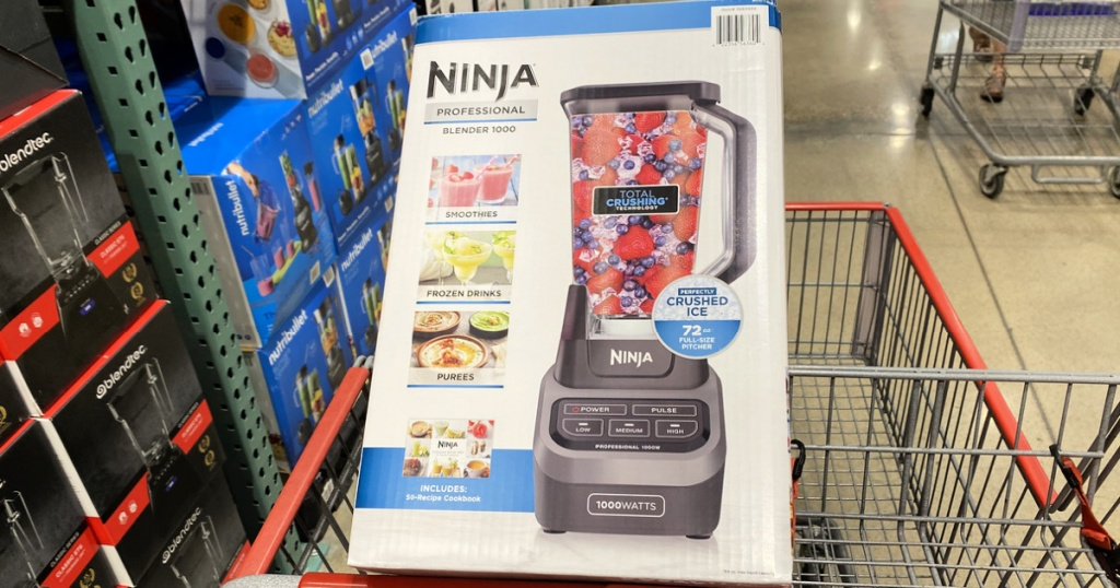 Ninja Professional Blender in shopping cart at costco