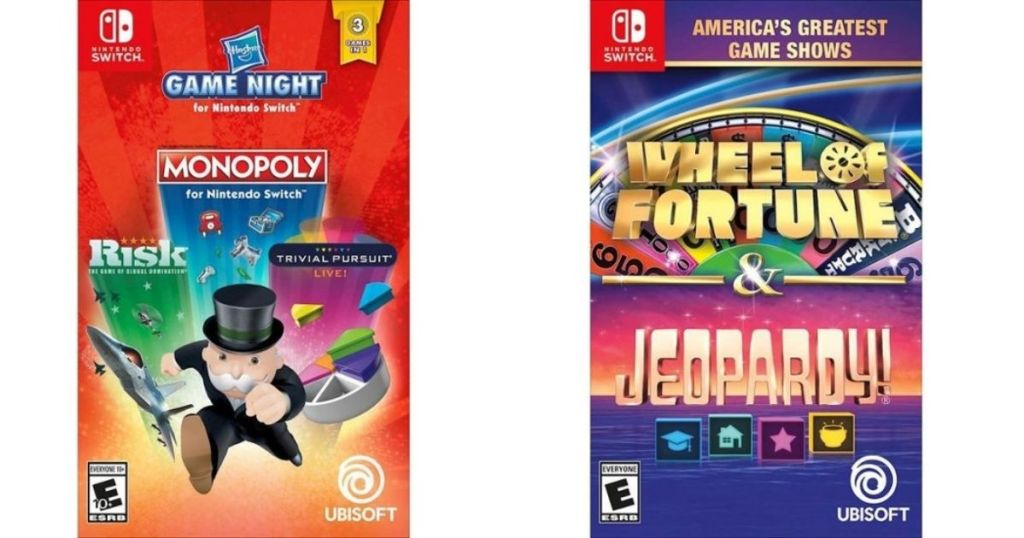 two Nintendo Switch video games