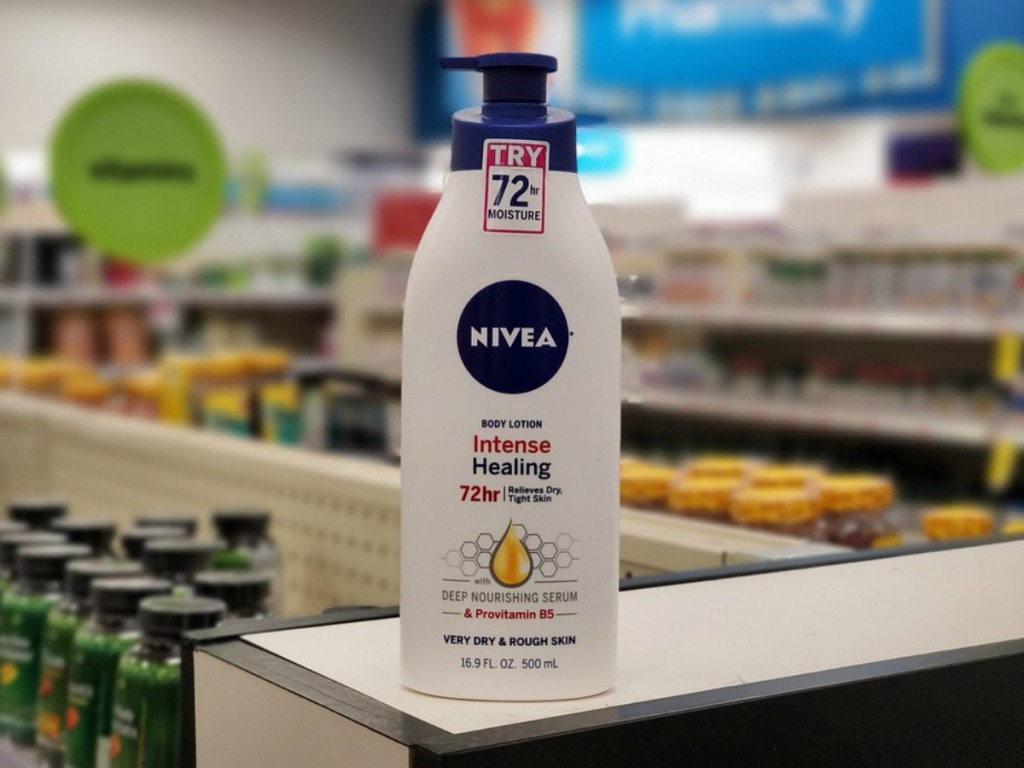 bottle of Nivea lotion at a store