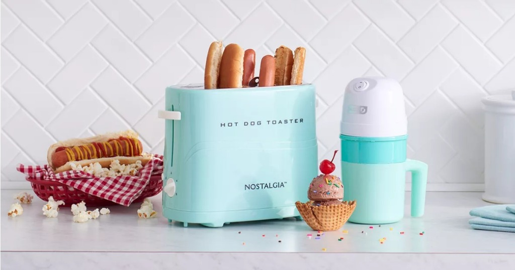 Nostalgia Hot Dog Toaster on counter
