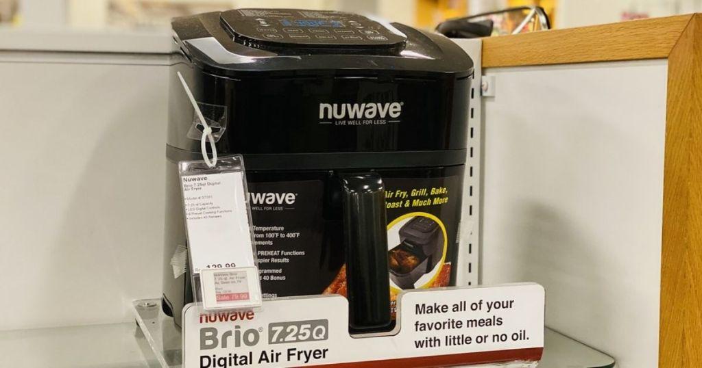 Nuwave brio air fryer on display in store