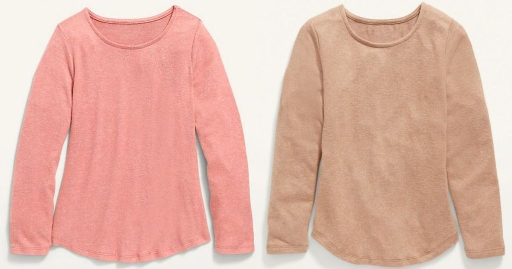 pink and brown girls tops