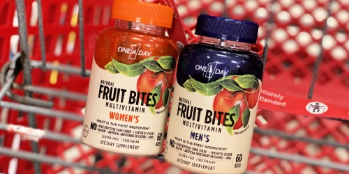 One A Day Fruit Bites Multivitamins Only $3.99 at Target (Regularly $10)