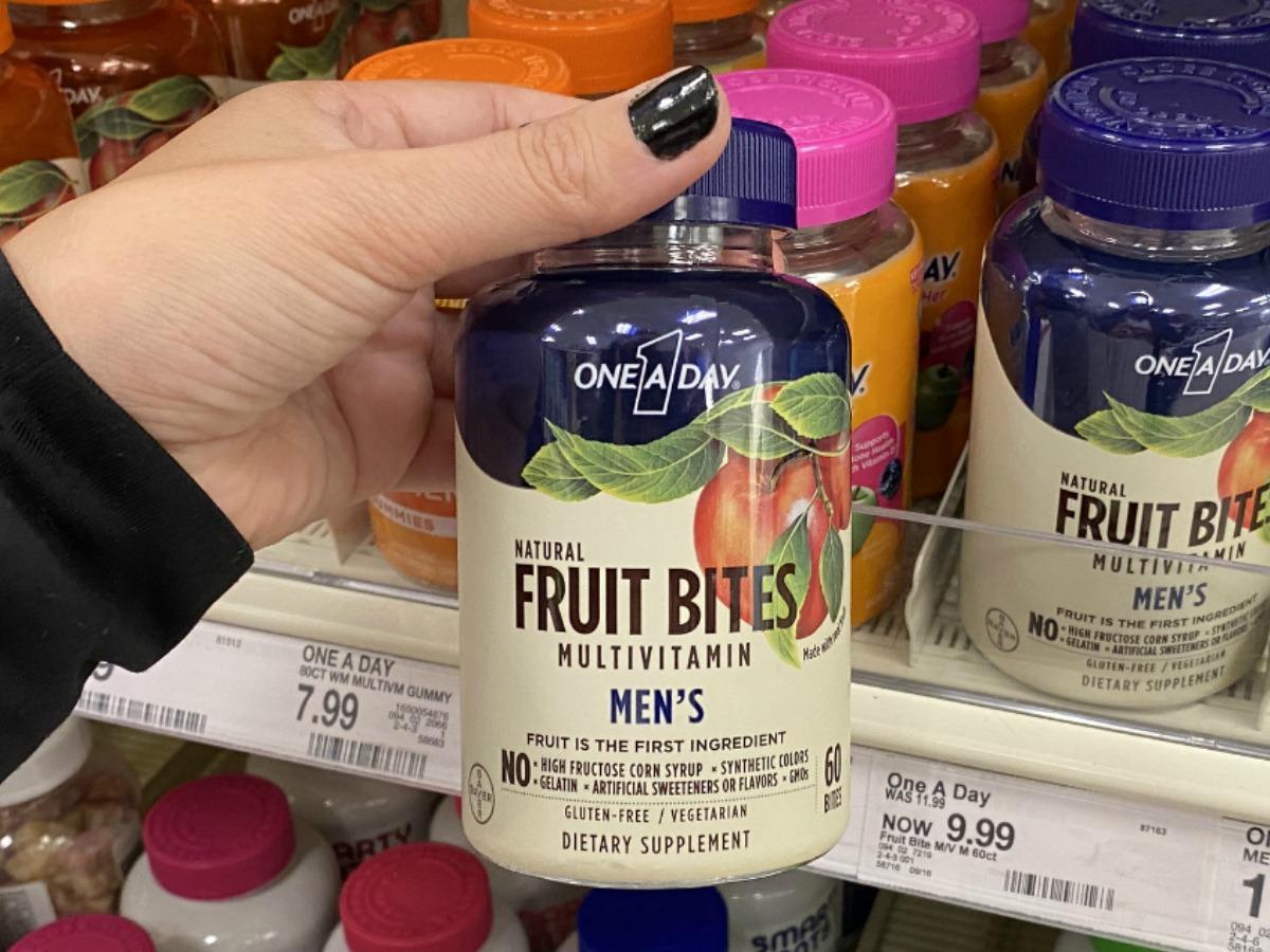 One A Day Fruit Bites Vitamins for men at Target
