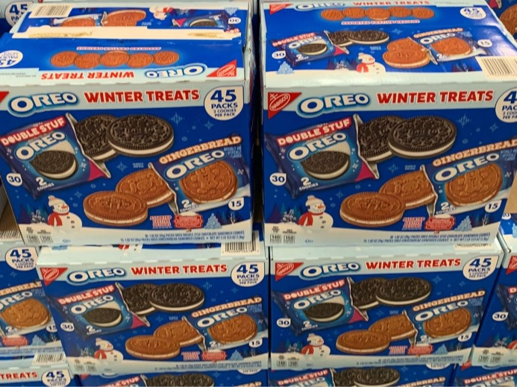 Sam's Club 45-Count box of winter treat oreos