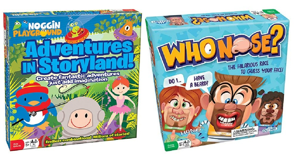 Outset Media Adventures in Storyland and Who Nose Games