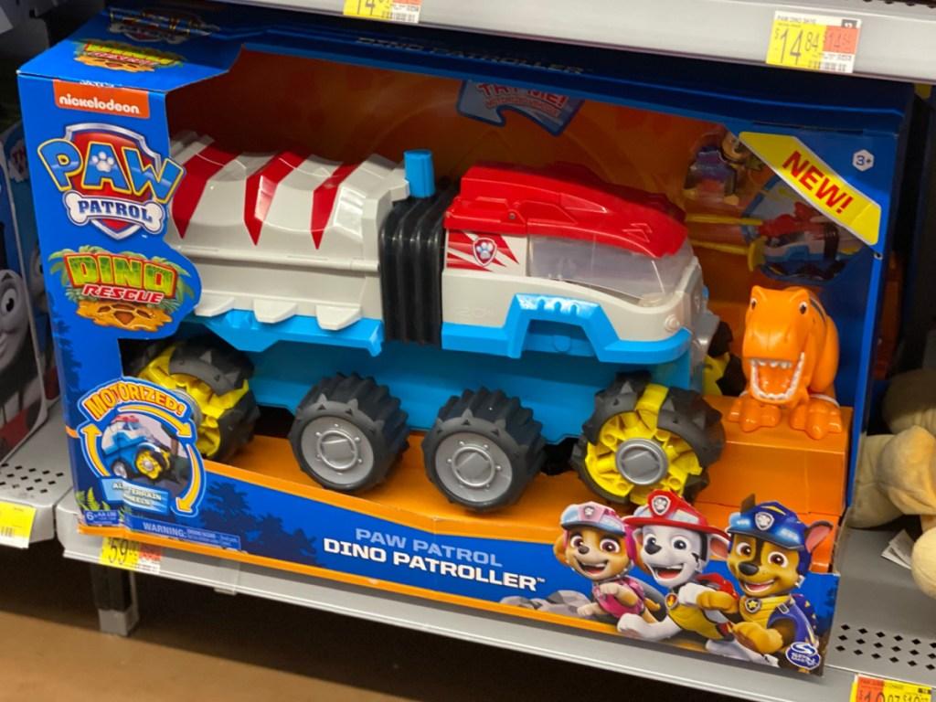 toy vehicle on store shelf