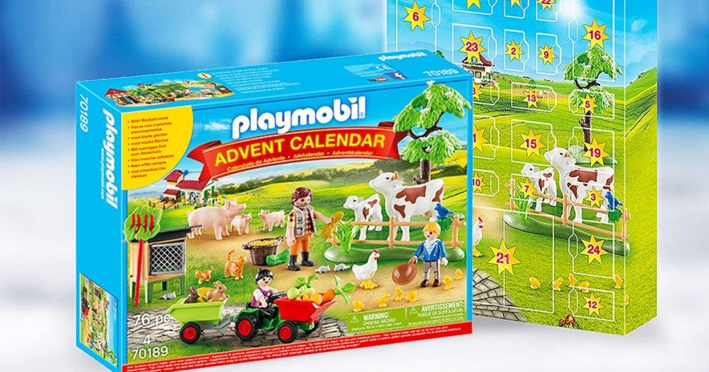 PLAYMOBIL farm themed toy advent calendar