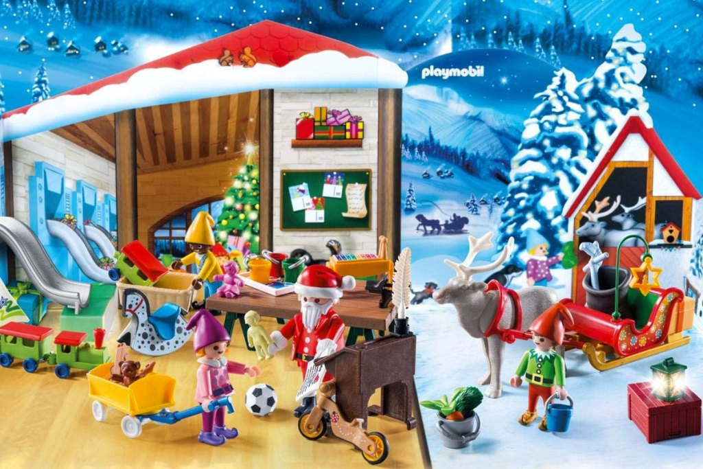 PLAYMOBIL Santa's Workshop Advent Calendar with 24 christmas themed figurines and toys
