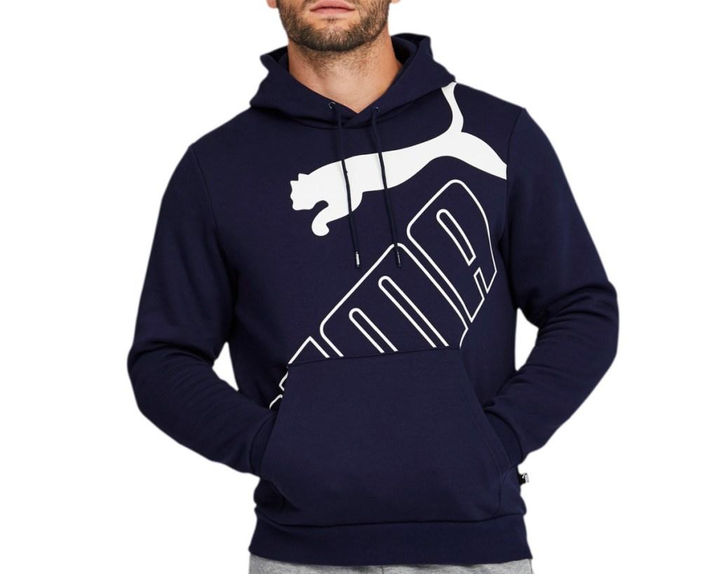 PUMA hoodie with logo on guy