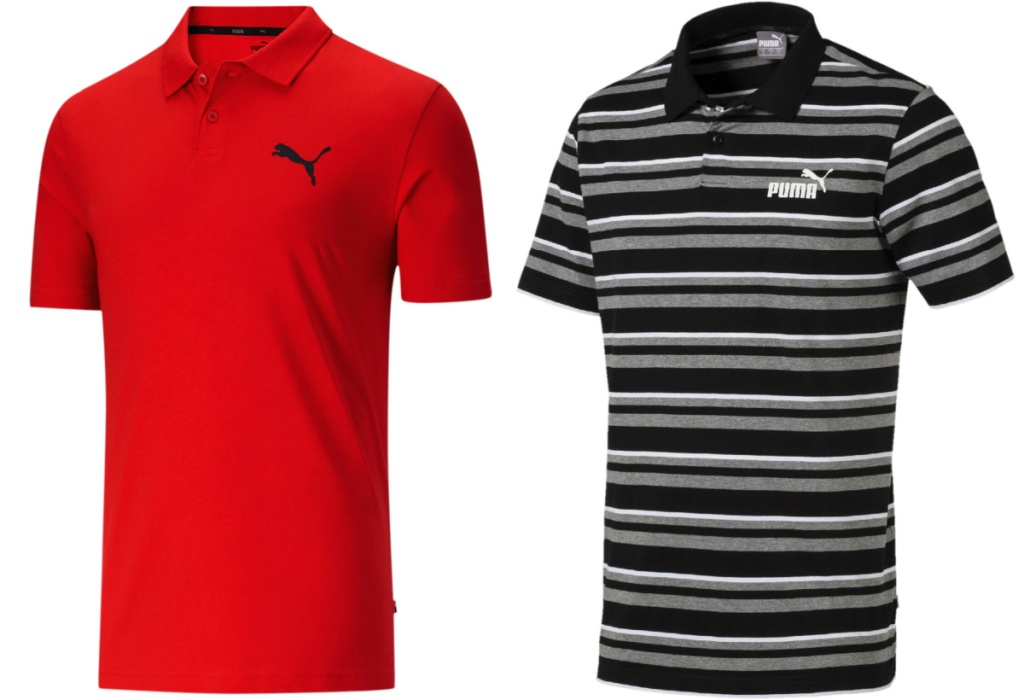 PUMA polos red and striped