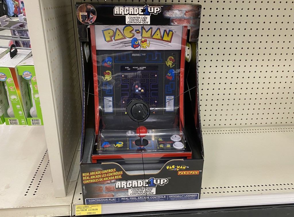 Pac-Man Counter Arcade Game on Target shelf