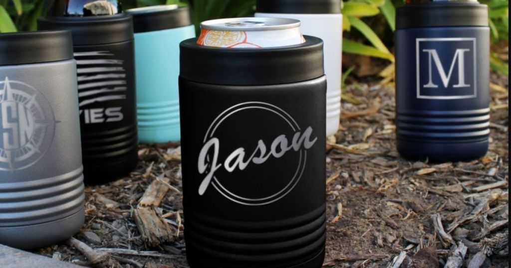 personalized can holder with a can in it