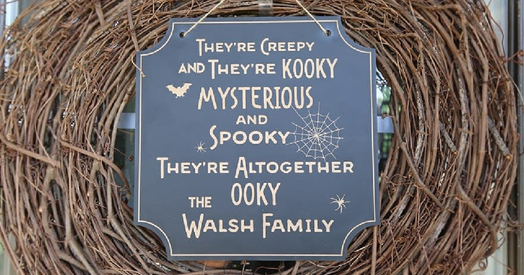 Personalized Halloween Sign