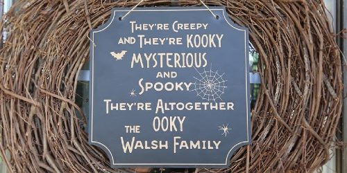 Personalized Halloween Sign Only $14.99 Shipped (Regularly $30) | Great Gift Idea