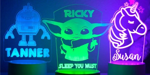 Personalized Kid's Night Lights Only $23.99 Shipped (Regularly $40)