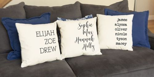 Personalized Family Pillow Covers Only $9.99 Shipped (Regularly $25) | Add Up to 15 Names