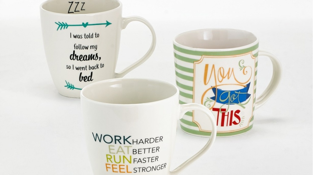 Pfaltzgraff Mugs with quotes