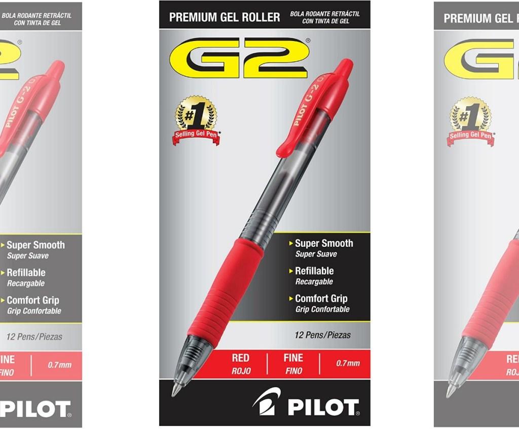 Package of red gel pens
