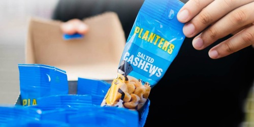 Planters Salted Cashews Single-Serve Bags 18-Count Just $11 Shipped on Amazon (Regularly $15)