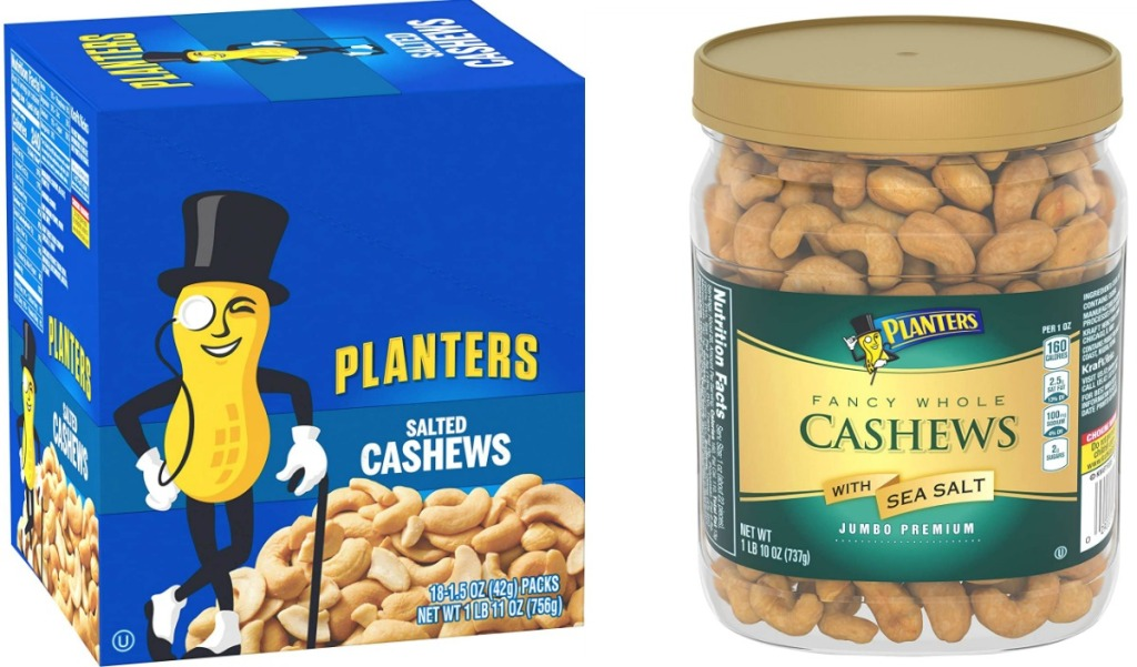 Two Planters brand nuts containers