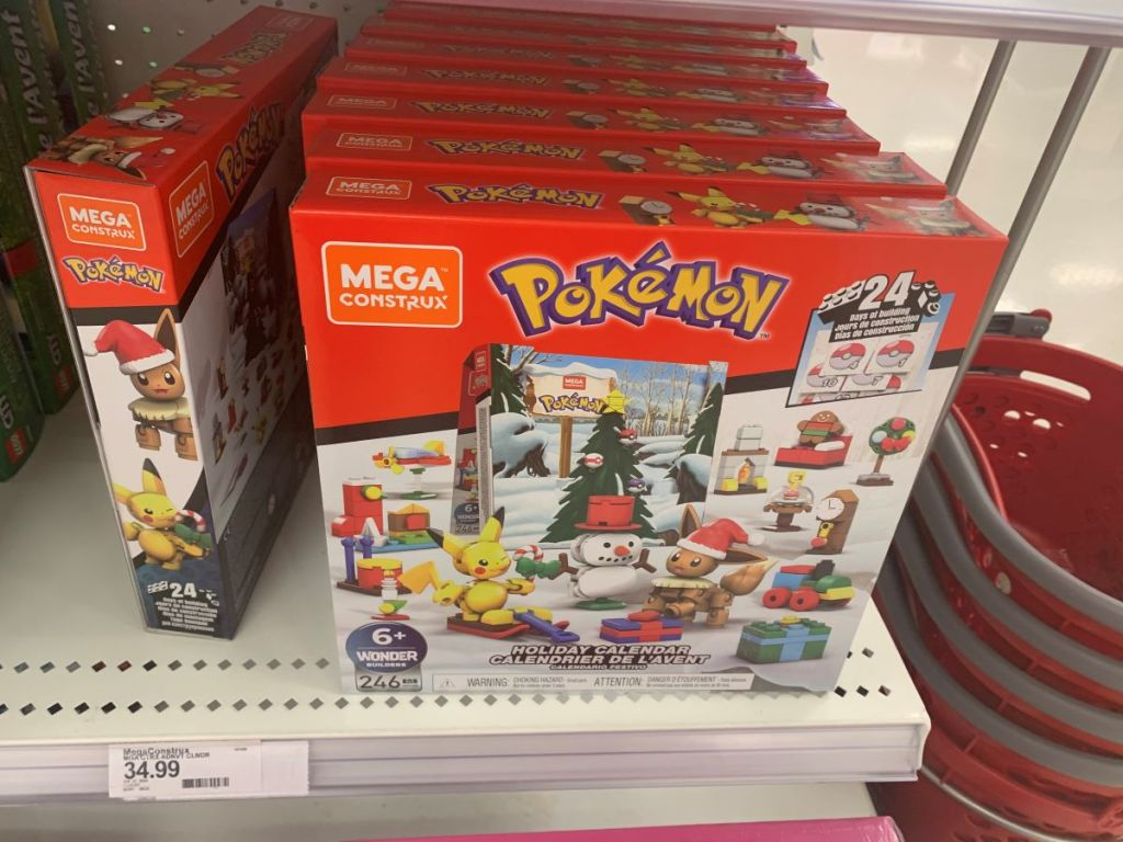 Pokemon Mega Construx Advent Calendar on shelf