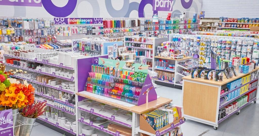 interior of popshelf store