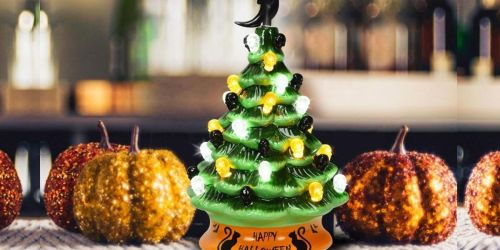This Green Ceramic Halloween Tree is Only $31.95 Shipped & May Sell Out!