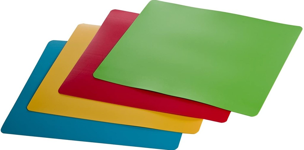pack of four cutting mats in different colors