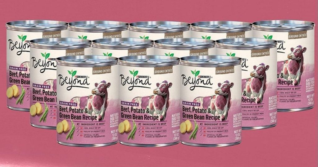 12 cans f Purina beyond wet dog food