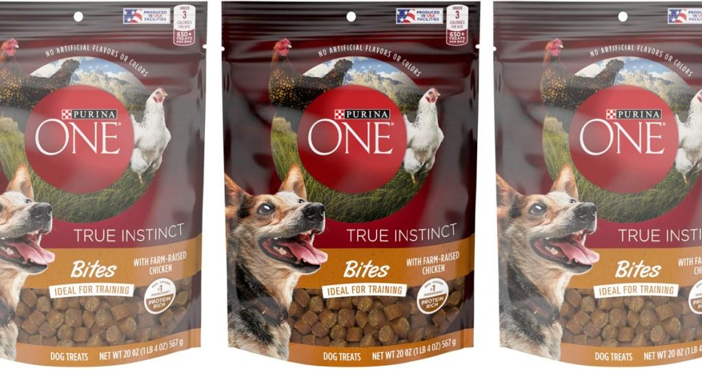 3 Purina One Dog Treat Bags