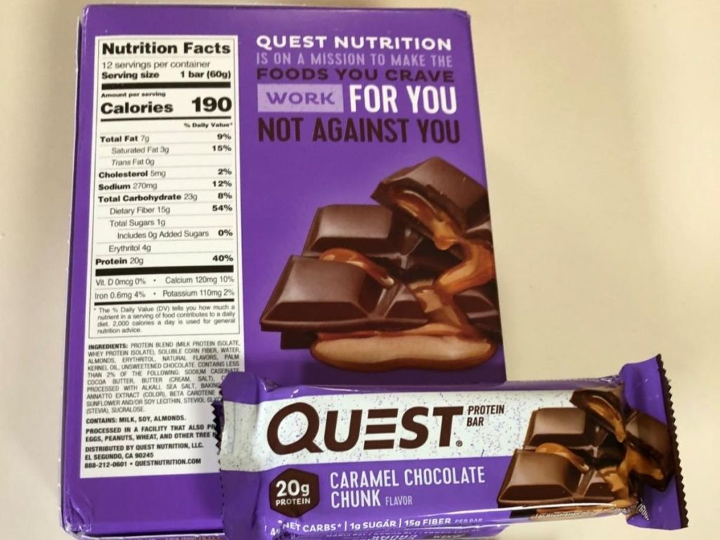 Quest Chocolate Caramel Chunk Bars