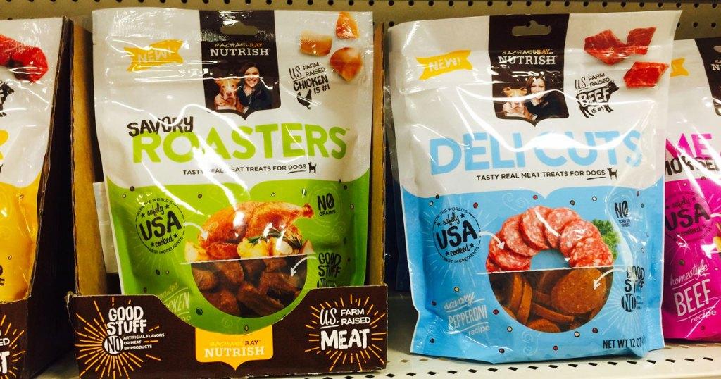 rachael ray nutrish dog treats on shelf at target