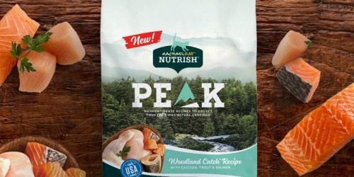 45% Off Rachael Ray PEAK 12-Pound Dry Cat Food Bag on Amazon + FREE Shipping