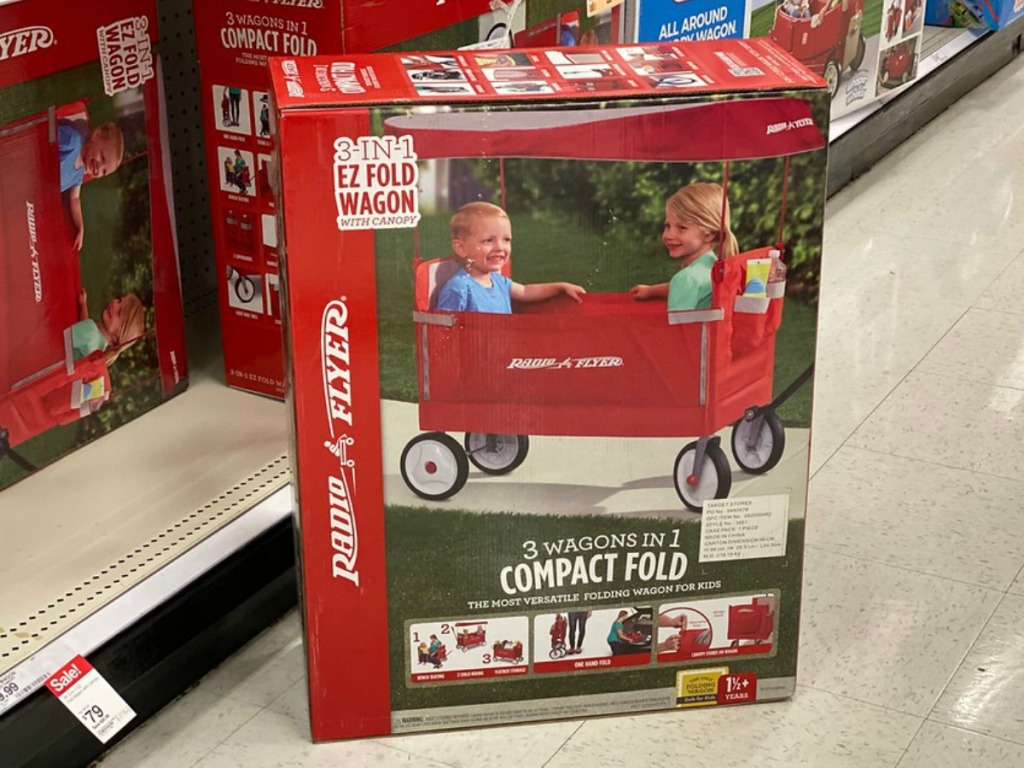 Radio Flyer wagon with canopy at Target