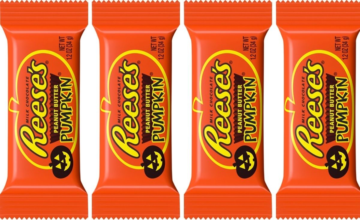 four single Reese's peanut butter pumpkins