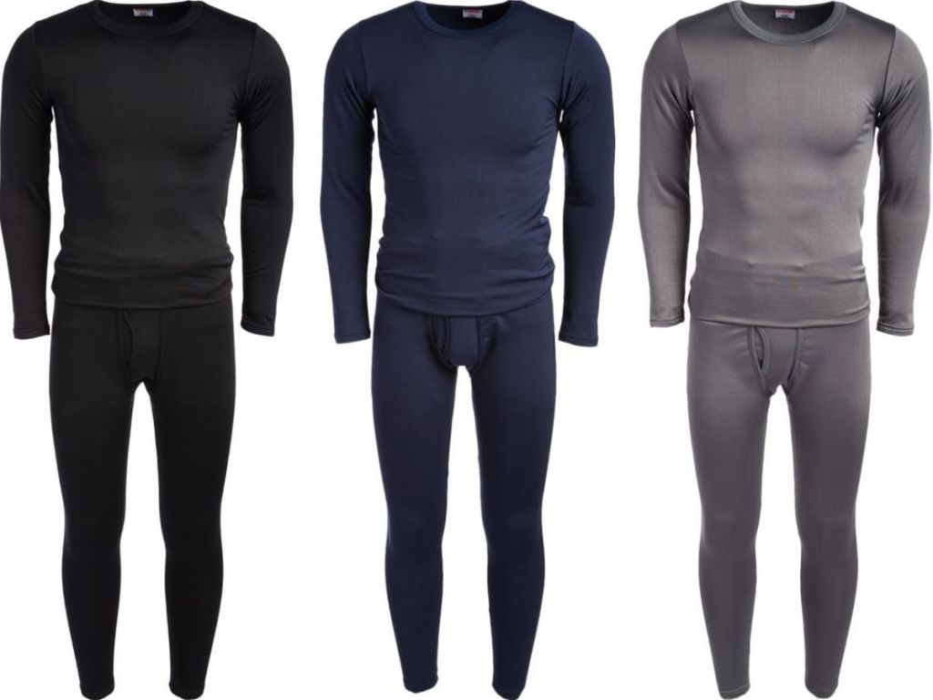 Three pairs of Rocky men's long underwear sets